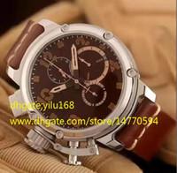 Wholesale Head Sports Watch - Luxury Brand AAA Men's Chronograph Big Watch Mens Swiss Quartz Calf Leather Calendar Watches Men Sports Dive Stopwatch Left head