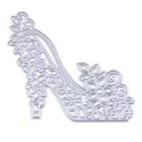 Wholesale High Photo Paper - High-heeled Shoes Metal Cutting Dies Stencils for DIY Scrapbooking photo album Decorative Embossing DIY Paper Cards