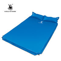 Wholesale- 2017 Tent Camping Mat Sleeping Pad 192 * 130 * 3cm Double personne matelas gonflable automatique Outdoor Fishing Beach Mat avec oreiller