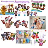 Wholesale Frog Plush Animal - Even mini animal finger Baby Plush Toy Five little speckled frogs Five little ducks finger Baby Plush Toy