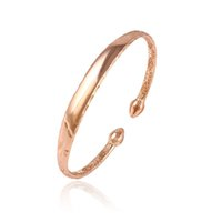 Wholesale Wholesale Children Jewelry - Xuping Fashion Temperament Rose Gold Color Plated Copper Jewelry Bangle For Children Christmas Party Gift Wholesale DH28-51577