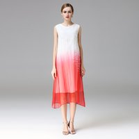 Wholesale Two Piece Ladies Dress Suits - Women 2 pieces set crepe silk dresses and Embroidery mulberry silk lady long covered casual fashion plus size XXL two colors women's suits