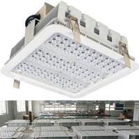 Wholesale bay ceiling - Explosion Proof Canopy Lights Finned Radiator 100W 150W 180W LED High Bay Light for GAS Station Light Warehouse Lamp Recessed Ceiling Light