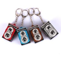 Wholesale Rock Roll Toys - Retro vintage camera chain sound light keychains flashlight sound ring cartoon toys rock n roll keychains gift free dhl