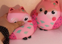 Wholesale Cheap Owl Gifts - 20s slow rising rare squishy pink owl 13cm jumbo PU cute gift wholesale cheap wholesale