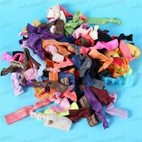 Wholesale Band Elastic Flower Ladies - Hot 100 pcs lot Cute Ladies Girl Flower Hairband Headbands Flower Style Elestic Headwear Elastic Hair Band Hair Rope