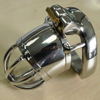 Wholesale Lock Penis Spikes - Anti off Spiked ring Chastity belt device men chastity belt stainless steel metal penis lock chastity urethral penis ring