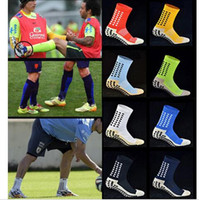 Wholesale Anti Slip Wholesale - Top Quality Anti Slip Tocksox Soccer Socks 1:1 Trusox Mid-calf Cotton Football Socks Calcetin de futbol Meias Calcetines Football Socks