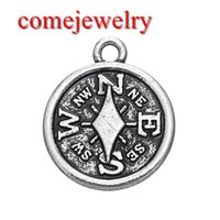 Wholesale Vintage Compass Charm - High Quality Vintage Style Compass Charms Pendants for Jewelry Making