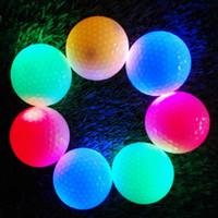 Wholesale Led Golf Balls - Wholesale- 2Pcs Night Tracker Flashing Light Glow Golf Balls LED Electronic Golfing New Arrival