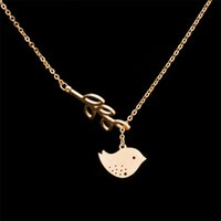 Wholesale Halloween Birds - wholesale 10pcs lot fashion personality bird leaves clavicle necklace of eight cross chain pendant jewelry nice charm gift for girl women