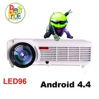 Wholesale atco projectors - Wholesale-ATCO LED96 Projector Full HD 1080P Android 4.4 Wifi smart RJ45 3D Home theater Video Proyector LCD Projectors Beamer for KTV