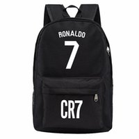 Wholesale kids backpack free shipping - Free shipping Madrid Ronaldo backpack designer backpacks football bags sport waterproof bags kids school bags for teenage boys girls