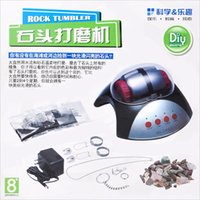 Wholesale Machine For Jewelry - Wholesale-Educational learning diy toy Rock Tumbler Lapidary Polisher jewelry maker machine baby toys for children with stone