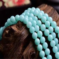 ingrosso pietra 4mm-Perle di pietra naturale a forma di amazzonite con perline larghe a 4mm per monili che fanno le belle perline