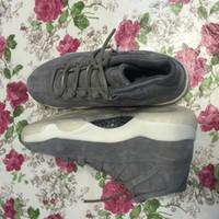 Wholesale Price Carbon - 2017 Drop ship top quality air retro 11 Suede men basketball shoes real carbon fibre sports shoes size eur 41-47 wholesale price