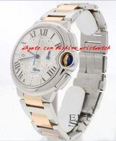 Wholesale Chrono Steel Pink - Fashion Luxury BRAND NEW 44MM 2-Tone Pink Gold Steel Chrono Watch W6920075 Watch With BOX Men's Watches MAN WATCH Wristwatch