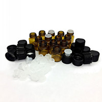 Wholesale Wholesale Amber Glass Bottled - 1ML 2ML 3ML (1 4 5 8 Dram) Amber Mini Glass Bottle 1cc 2cc 3cc Amber Sample Vial Small Essential Oil Bottle Travel Must