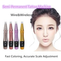 Wholesale Throwing Steel - Korean Semi permanent Tattoo machine Floating lips Full throw Super sound-off Digital integrated charging dual-purpose embroidering machine