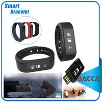 Wholesale Touch I5 - Excelvan I5 Plus Smart Bracelet Bluetooth 4.0 Waterproof Touch Screen Fitness Tracker Health Wristband Sleep Monitor Smart Watch
