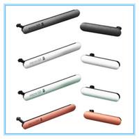 toz tapası ayarı toptan satış-10 Takım Mikro SD SIM Kart Şarj Yuvası Liman Toz Tak USB Sony Xperia Z3 için kapak D6603 D6653 Z3 Çift D6633 D6683