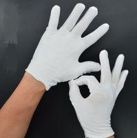 24 pezzi   12 paia di guanti in cotone 100% bianchi Guanti da servizio    camerieri Concierge Butler Snooker guanti da equitazione 6810418fdb1b