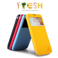 Wholesale Nillkin Fresh Series - Cell Phone Cases For Huawei G730 Y600 Originil NILLKIN Fresh Series Flip Leather Case With Retail Package