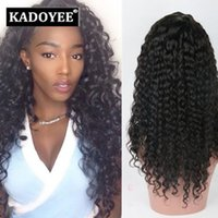 Wholesale Tangle Free Lace Wigs - Jerry Curl Human Hair wigs Brazilian virgin remy human hair Lace Front Hair Wigs black color wigs free shipping no shedding no tangles US UK