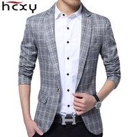 Wholesale Designer Blazers For Men - Wholesale- HCXY 2017 spring New Designer Blazer Men Fashion Suit Jacket Men's Casual Slim Fit Stylish high quality Blazer Jacket For Men