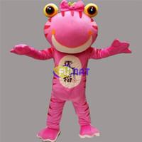 bilder rosa kostüm großhandel-FUMAT Großer Mund Frosch Maskottchen Kostüm Rosa Grün Frosch Erwachsene Größe Party Weihnachten Halloween Kinder Party Kostüm Bilder Anpassung