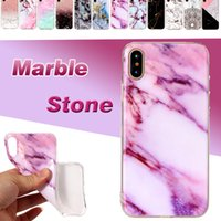 Wholesale Paint For Stone - For iPhone X Marble Stone Case Painted Scrub Superior Quality Soft TPU Silicone Protective Shockproof Back Cover For iPhone 8 7 Plus 6 6S