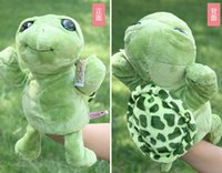 Wholesale Nici Big - Wholesale- Story toy 1pc cartoon NICI stereo big eye tortoise turtle hand puppets plush sleeping pacify educational kids infant gift