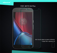 Wholesale Nillkin Iphone Screen Protector - Wholesale- For Moto G4 Plus NILLKIN Amazing H 9H 0.33MM Nano Anti-burst Explosion-Proof Tempered Glass Screen Protector Protective Film