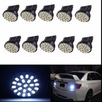 Wholesale Led 3457 - 50Pcs White 22-SMD Car 3157 LED Bulbs Brake Tail Stop Light 3057 3457 4157 3047 free shipping