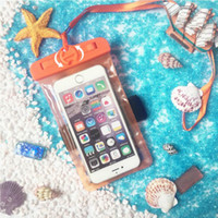 Wholesale Iphone Water Strip - waterproof phone case bag universal Phone Bag PVC Protective Pouch With reflective strip For Diving Swimming For smart phone