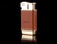 aufblasbares rohr großhandel-HONEST Kreatives Leder-Metallfeuerzeug mit Seitenfeuer Design aufblasbares Feuerzeug mit Geschenkbox