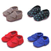 детская обувь для ходьбы оптовых-Детские мокасины из конского волоса из натуральной кожи с разноцветными кисточками обувь для первой ходьбы с мягкой подошвой для младенцев Prewalker