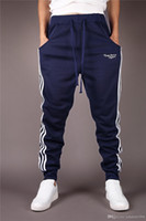 Wholesale boys hip hop pants - Jogger pants for boy men cheap price sport workout gym Hip Hop Slim Football feet training pants