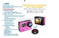 Wholesale lcd camera hdmi online - Original H8R Ultra K HD inch VR HDMI WIFI Action Cameras Dual Screen Waterproof Sports Camera Remote Control DV DVR Retail