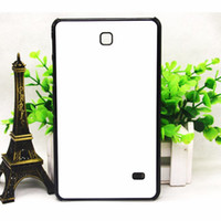 Wholesale Galaxy Tab Aluminium - 50 pcs Wholesal 2D sublimate case for Samsung GALAXY Tab 4 T231 Sublimation soft TPU case with aluminium metal sheet with glue