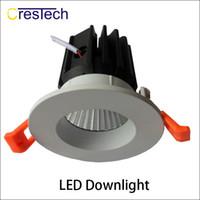 Wholesale Downlight Led Shape - Ceiling lamp Professional LED factory high briness LED lamp Round shape adjustment angle LED grid downlight