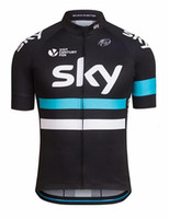 Wholesale Only Shorts Sky - New SKY Team Cycling Jersey Short Sleeve ropa ciclismo Hombre Top Jersey only Road Bike Cycling Clothing MTB Bicicleta Wear Clothes