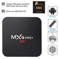 corriente pc tv wifi al por mayor-MXQ Pro Android 6.0 TV Box Amlogic S905X Quad Core 64bit Smart Mini PC 1G 8G Soporte Wifi 4K H.265 Streaming Reproductor Google Media