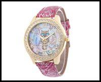 Wholesale Print Manufacturers - 2017 new watch owl print dial lady quartz watch manufacturer direct sale high quality