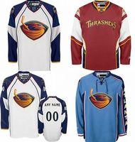Wholesale Discounted Hockey Jerseys - Customized Atlanta Thrashers jersey Discount Home Away Alternate Ice Hockey Jerseys Embroidery Logo Sew on Any Name & No. Size 2XS-6XL