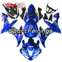 Complete Motorcycle Blue Go White Black Pattern Carénages pour Yamaha YZF1000 R1 2004 2006 Injection ABS Carénages Carrosserie de moto Cowlings