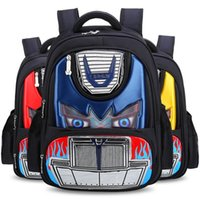 Grande vente de sacs scolaires Prix-100PCS Hot Orthopedics Schoolbags 3d Car Children School Bags Sacoche à dos haute qualité pour motifs Cartoon pour garçons Wholse L070