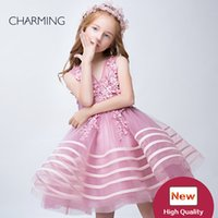Wholesale Designer Clothes For Kids - Ball gown girl dress high quality Girls party clothes Designer kids dresses Dresses for flower girls pageant dresses Chinese wholesalers