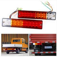 ingrosso stop atv led-2pcs LED Stop Rear Rear Brake Reverse Light Girare Indiactor 12V / 24V ATV Truck Trailer Lamp