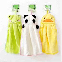 Wholesale White Kitchen Towels Wholesale - Cute Animal Microfiber Kids Children Cartoon Absorbent Hand Dry Towel Lovely Towel For Kitchen Bathroom Use WD074